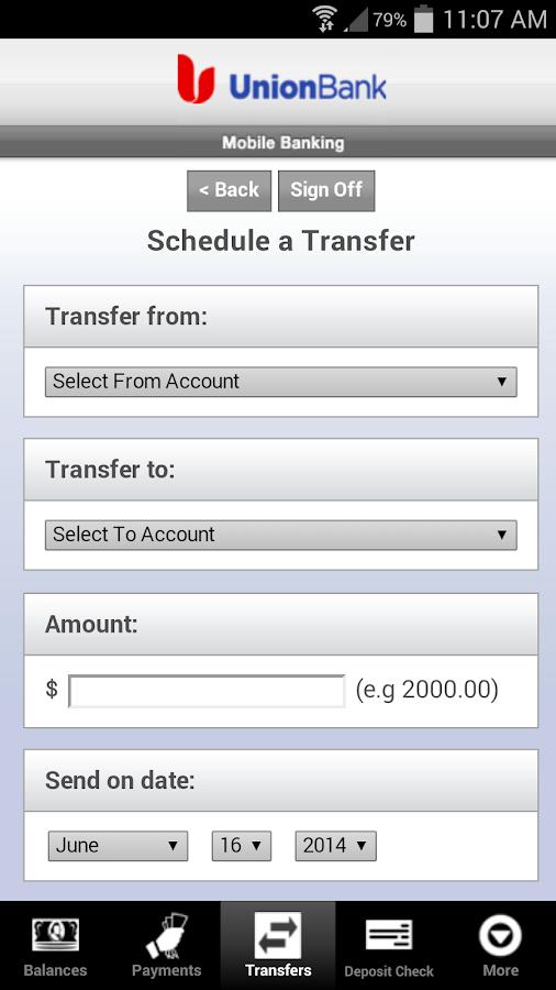 Union Bank Mobile Banking - screenshot