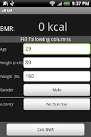 Screenshot of aBMR