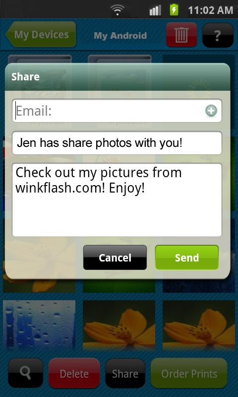 Winkflash - screenshot