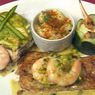 Rebuilt Louisiana seafood platter