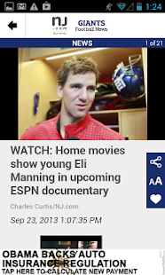 NJ.com: New York Giants News - screenshot thumbnail