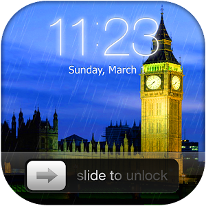 Rainy London Lock Screen