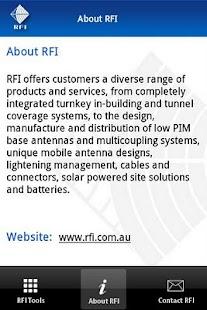 RFI Tools- screenshot thumbnail