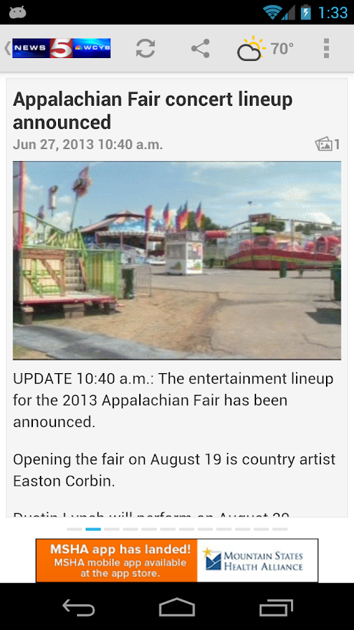 News 5 WCYB.com Mobile - screenshot