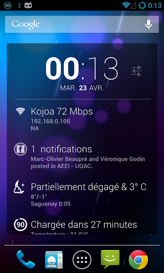DashClock Facebook Extension - screenshot