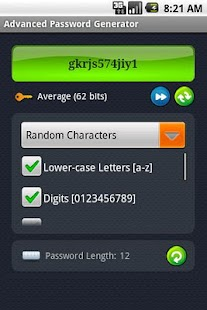 Advanced Password Generator - screenshot thumbnail