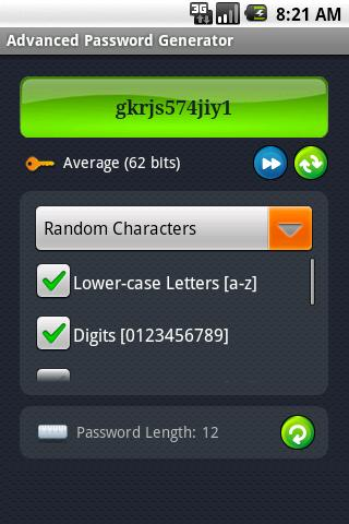 Advanced Password Generator - screenshot