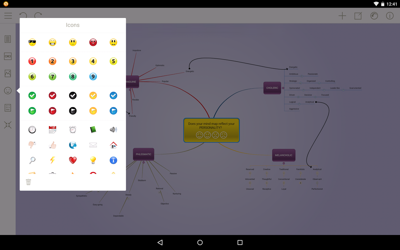 Mindomo (mind mapping) – Capture d'écran