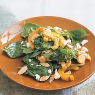 Warm Spinach Salad with Delicata Squash and Ricotta Salata