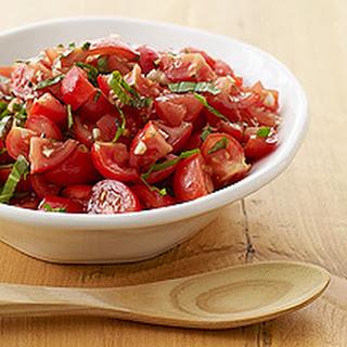 Chunky Fresh Tomato and Basil Sauce.