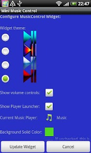 Mini Music Control - screenshot thumbnail