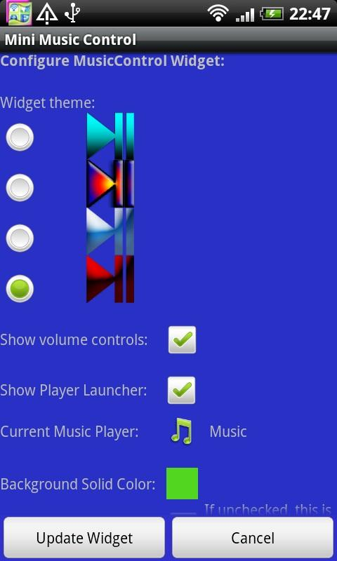 Mini Music Control- screenshot