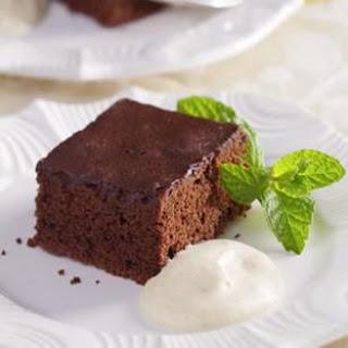 Chocolate-Cinnamon Sheet Cake with Almond Cream
