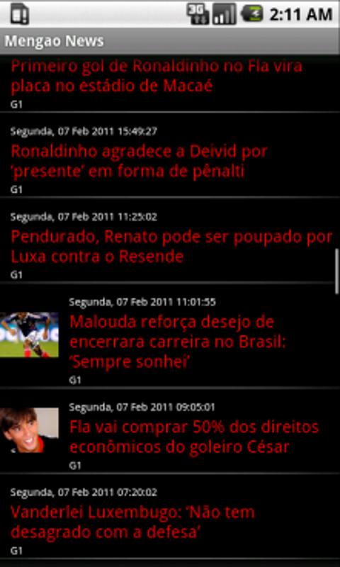 Mengão News - screenshot