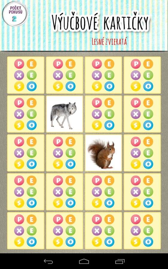 Výučbové hry pre deti - screenshot