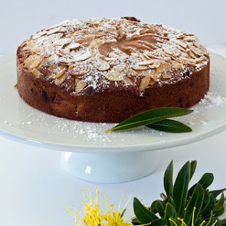 Pear, Almond And Chocolate Tea Cake