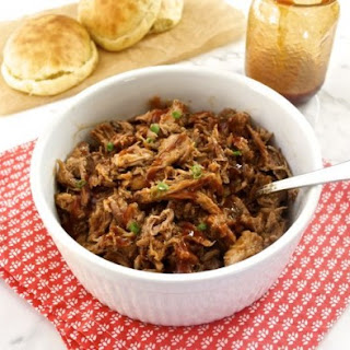 Beer Braised Slow Cooker Pulled Pork with Honey Pineapple Barbecue Sauce.