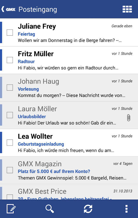 GMX Mail - screenshot
