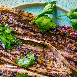 Grilled Treviso Radicchio with Anchovy Vinaigrette and Bread Crumbs