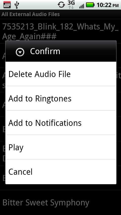 Delete Ringtone - screenshot