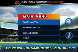 Screenshot of T20 ICC Cricket World Cup 2012
