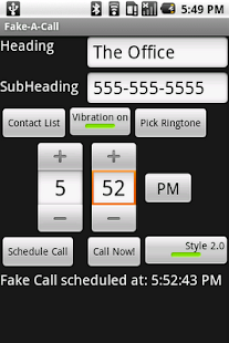 Fake-A-Call - screenshot thumbnail