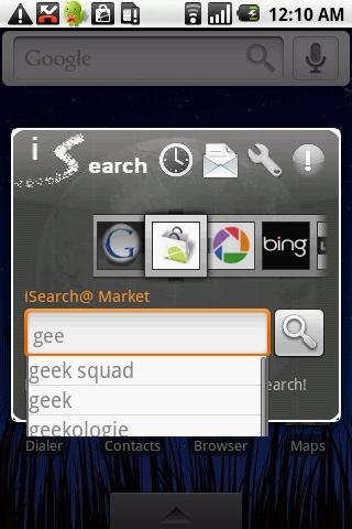iSearch widget free- screenshot