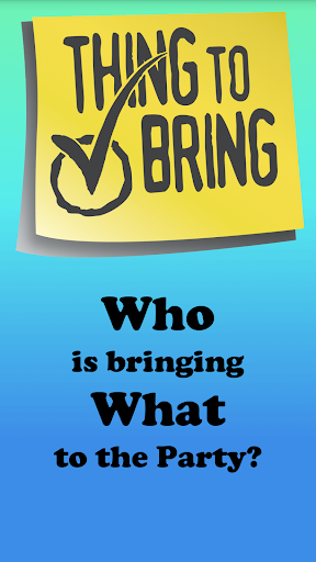 ThingToBring Event Planning