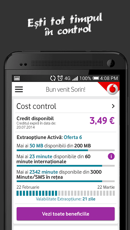 MyVodafone- screenshot