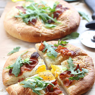 Bacon and Egg Breakfast Pizzas