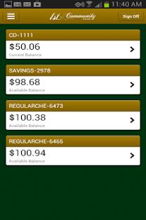 1st Community Bank Mobile- screenshot thumbnail