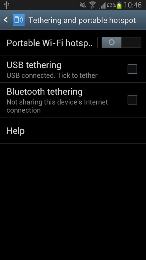 USB Tethering /Tether- screenshot