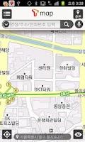 Screenshot of T map for KT, LGU+