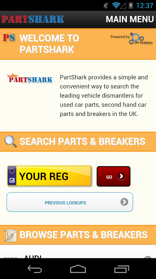 PartShark Car Parts & Spares - screenshot