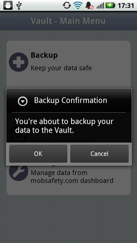 Vault Backup & Restore - Trial- screenshot