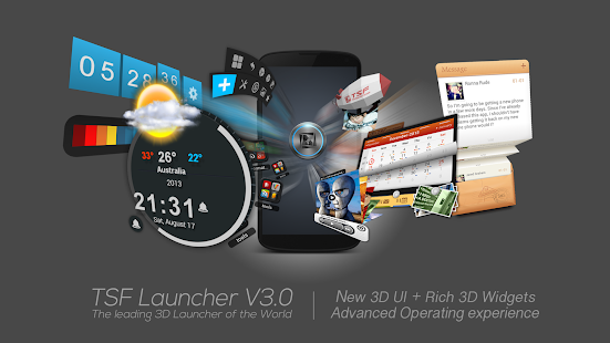 TSF Launcher 3D Shell - screenshot thumbnail