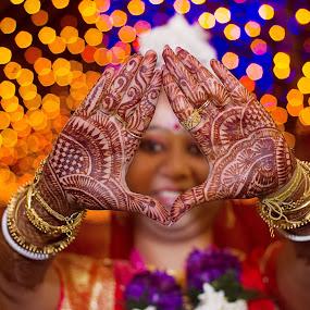 || FRAMED ... with Mehendi || by Sankalan Banik - Wedding Other