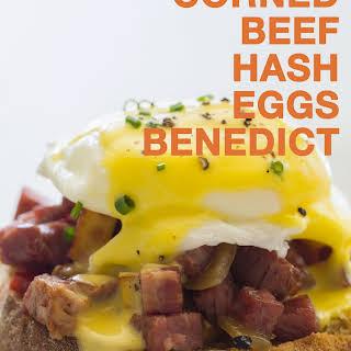 Corned Beef Hash Eggs Benedict.