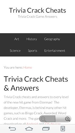 Trivia Answers