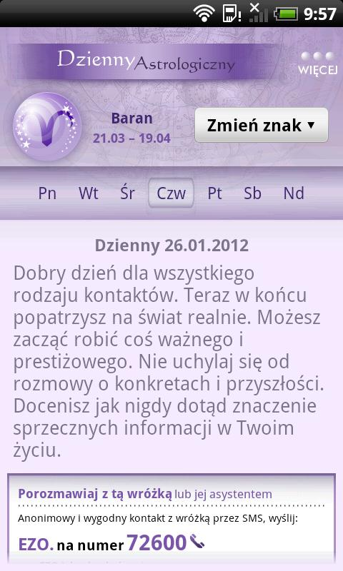 Horoskop WP.PL - screenshot