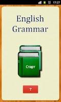 Screenshot of English Grammar Русская версия