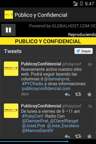 PUBLICO Y CONFIDENCIAL