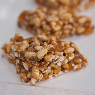 Apricot, Brown Rice and Cashew Butter Treats.