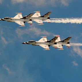 Thunderbirds  by Heather Donahue - Transportation Airplanes