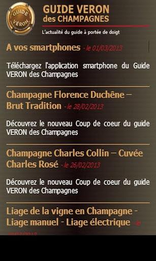 Guide VERON des Champagnes