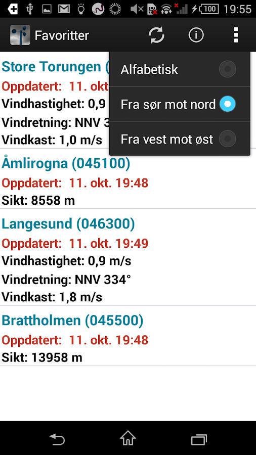 KystVær - Kystverket - screenshot