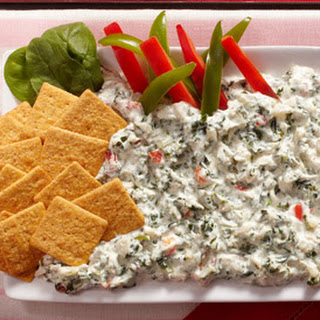 Italian Spinach Dip with WHEAT THINS Crackers.