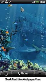 Shark Reef Live Wallpaper Free Screenshot 2