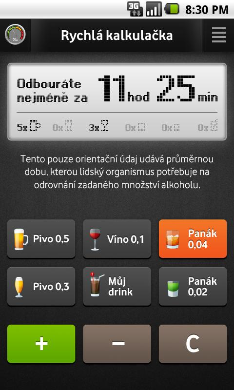 Promile.INFO - screenshot