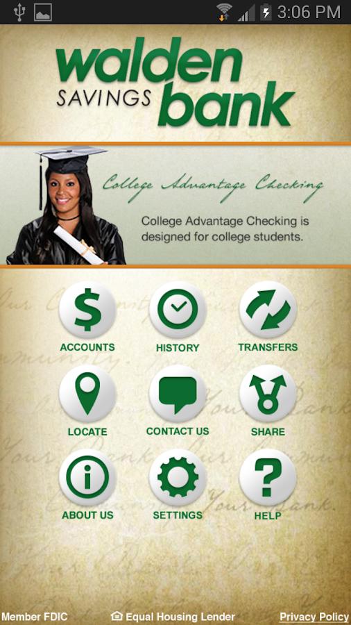 Walden Savings Bank - screenshot